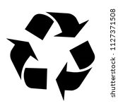 recycle icon isolated on white... | Shutterstock . vector #1127371508