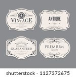 set of vintage label old... | Shutterstock .eps vector #1127372675