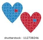 heart puzzle vector love concept | Shutterstock .eps vector #112738246