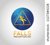 falls prevention day vector... | Shutterstock .eps vector #1127384228