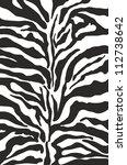 zebra print background pattern | Shutterstock .eps vector #112738642