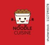 cuisine ramen noodle... | Shutterstock .eps vector #1127390078