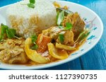 seychelles fish curry  with... | Shutterstock . vector #1127390735