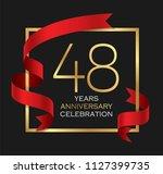 48th years anniversary... | Shutterstock .eps vector #1127399735