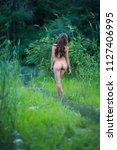 beautiful nude young woman on... | Shutterstock . vector #1127406995