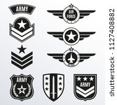 army and military badge set.... | Shutterstock .eps vector #1127408882