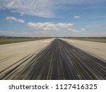 airport runway perspective... | Shutterstock . vector #1127416325