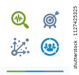 setting targets   contrast... | Shutterstock .eps vector #1127425325