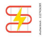 electric underfloor heating...   Shutterstock .eps vector #1127426285