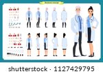 doctor man and doctor woman... | Shutterstock .eps vector #1127429795