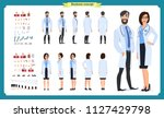 doctor man and doctor woman... | Shutterstock .eps vector #1127429798