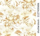 tropical pattern. seamless... | Shutterstock .eps vector #1127430686
