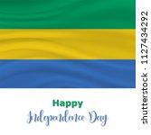 17 august  gabon independence... | Shutterstock .eps vector #1127434292