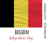 21 july  belgium independence... | Shutterstock .eps vector #1127434526