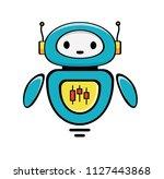 forex trading robot. stock... | Shutterstock .eps vector #1127443868