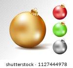 colorful christmas balls. set... | Shutterstock .eps vector #1127444978
