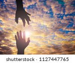 The Silhouette Photo Of Hand T...