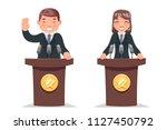 politician tribune performance... | Shutterstock .eps vector #1127450792