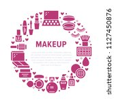 makeup beauty care red circle... | Shutterstock .eps vector #1127450876