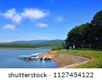 landscape of tuyen lam lake ...   Shutterstock . vector #1127454122