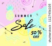 summer sale banner template...   Shutterstock .eps vector #1127456105