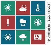 climate icon. collection of 9... | Shutterstock .eps vector #1127457275