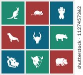 mammal icon. collection of 9... | Shutterstock .eps vector #1127457362