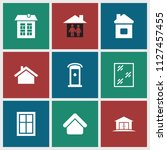 residence icon. collection of 9 ... | Shutterstock .eps vector #1127457455