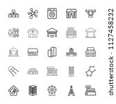 structure icon. collection of... | Shutterstock .eps vector #1127458232