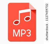 flat style mp3 file icon....   Shutterstock .eps vector #1127459732