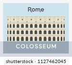 colosseum flat style  rome... | Shutterstock .eps vector #1127462045