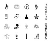 scientific icon. collection of...   Shutterstock .eps vector #1127465312
