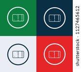 eraser icon vector | Shutterstock .eps vector #1127465612
