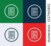 ebook icon vector | Shutterstock .eps vector #1127465852