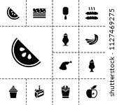 tasty icon. collection of 13... | Shutterstock .eps vector #1127469275