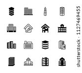 apartment icon. collection of... | Shutterstock .eps vector #1127469455