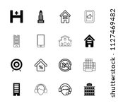 center icon. collection of 16... | Shutterstock .eps vector #1127469482