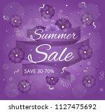 summer sale. vector card. | Shutterstock .eps vector #1127475692