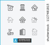 residential icon. collection of ... | Shutterstock .eps vector #1127481815