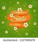 summer sale. vector card. | Shutterstock .eps vector #1127483678