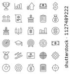 thin line vector icon set  ... | Shutterstock .eps vector #1127489222
