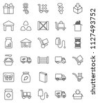 thin line vector icon set  ... | Shutterstock .eps vector #1127493752
