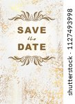 vintage postcard save the date... | Shutterstock .eps vector #1127493998