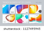 abstract double page brochure... | Shutterstock .eps vector #1127495945