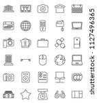 thin line vector icon set  ...   Shutterstock .eps vector #1127496365