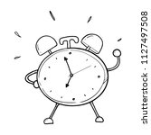 alarm clock hand drawn | Shutterstock .eps vector #1127497508