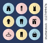 set of 9 casual filled icons... | Shutterstock .eps vector #1127499476