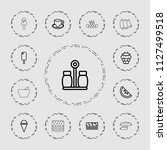 tasty icon. collection of 13... | Shutterstock .eps vector #1127499518