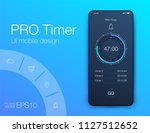 timer clock application ui...