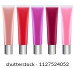 colorful lip gloss tubes set.... | Shutterstock . vector #1127524052